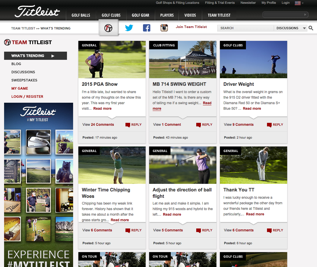 titleist content hub