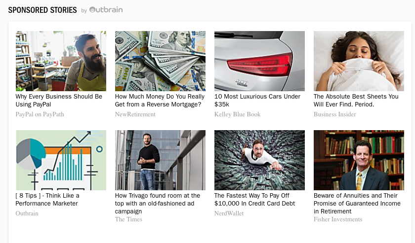 Content promoted with Outbrain